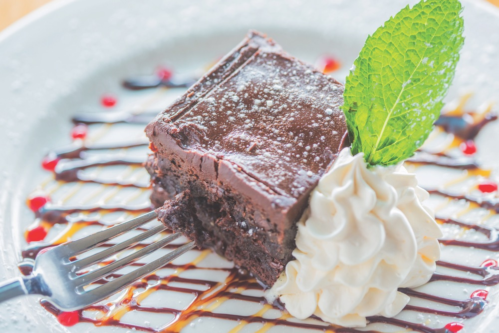 Decadent Brownie With Chocolate Ganache Sauce By Old Florida Fish House