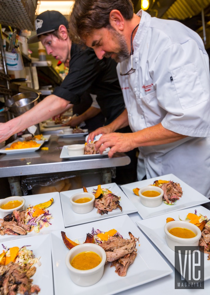 Chefs Of Jackson's Steakhouse Beautifully Plating Pulled Pork