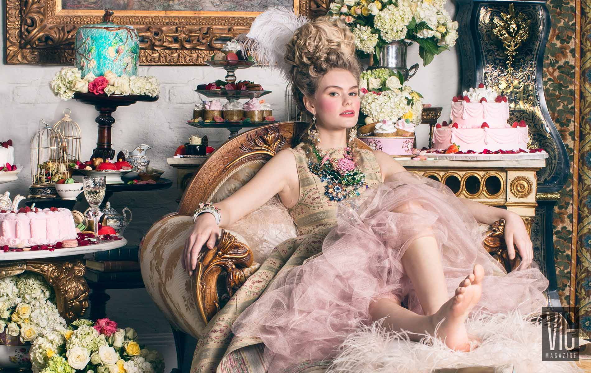 2015 South Walton Fashion Week Winner Miranda Abney in Marie Antoinette Photo Shoot