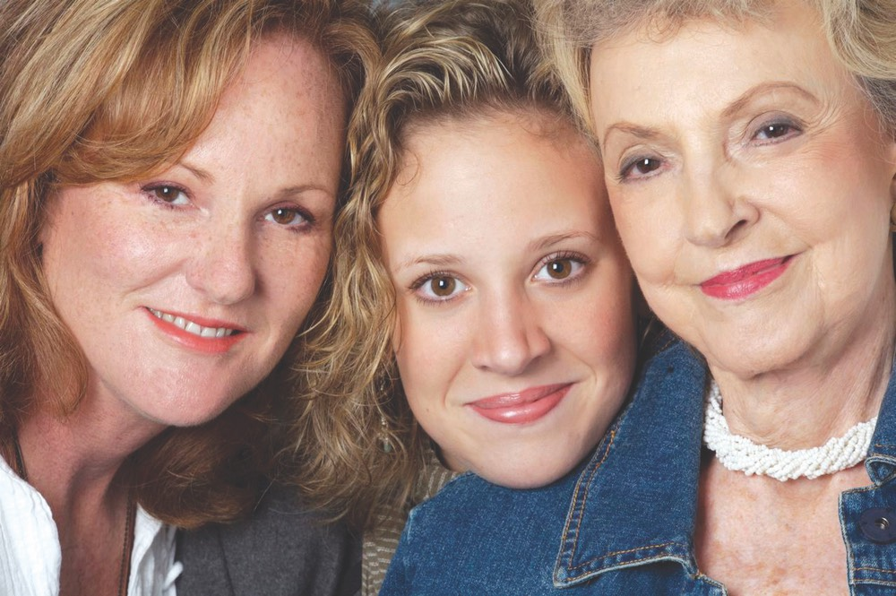 Three generations vie magazine a tribute to mothers mother's day