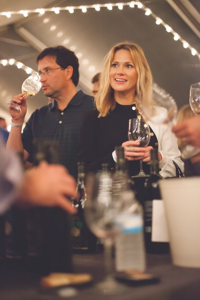 Happy Guests At The Seeing Red Wine Fest Dabbling In Good Company And Wine