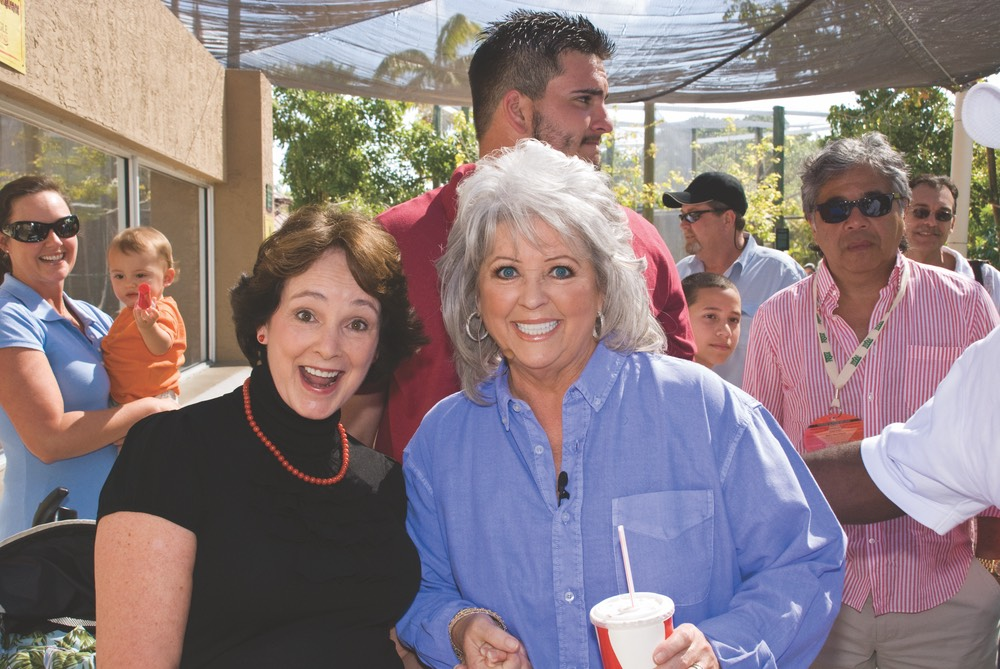 Sister with Paula Deen Photo by Gerald Burwell