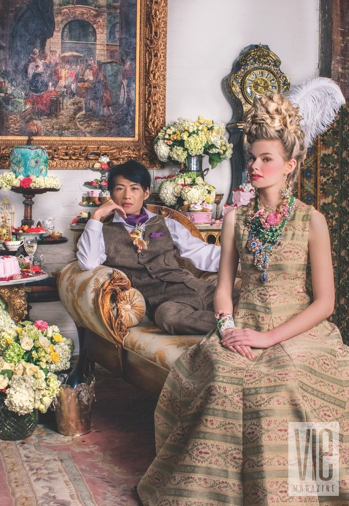 Xinbang Tang and Miranda Abney Look Regal Against Decandent Sweets