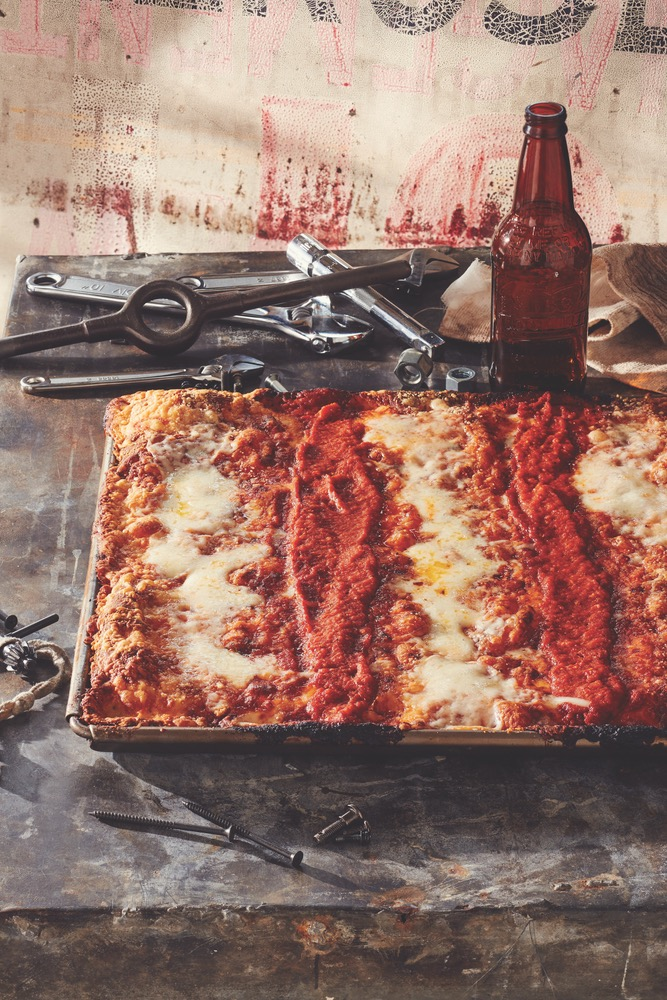 America's Favorite Classic Cheese and Tomato Sauce Pizza Is A Vision of Red and White