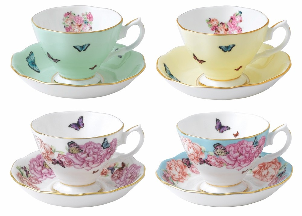 Miranda Kerr for Royal Albert Teacup and Saucer (set of four) Cest La Vie Summer 2016