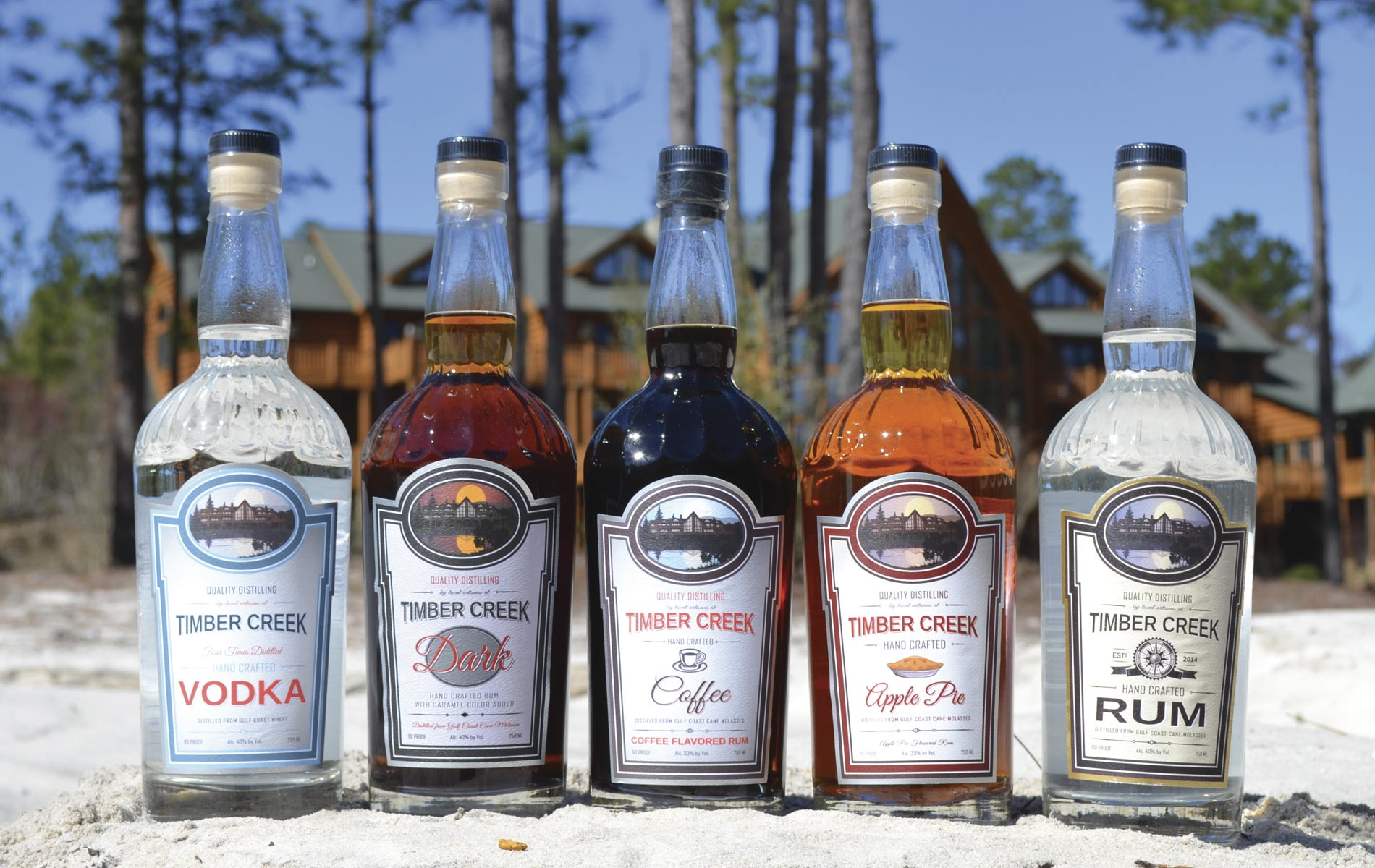 Timber Creek Distillery bottles Crestview Florida Vodka Rum