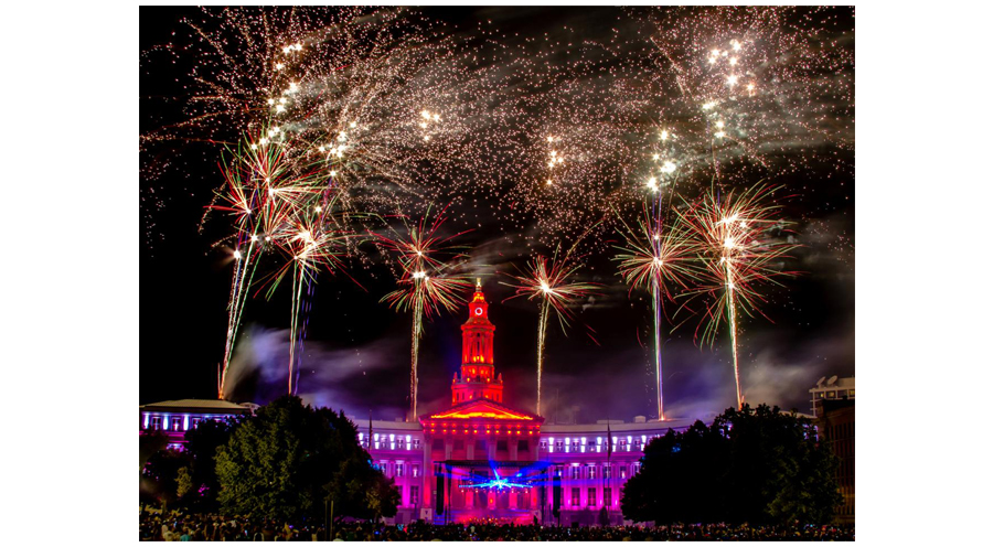 Fireworks In Denver Colorado During The Fourth Of July