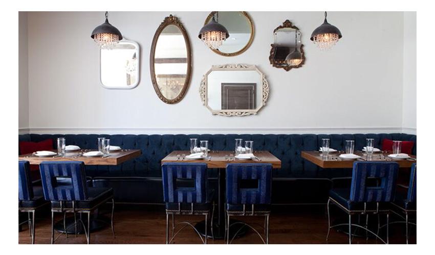 French inspired Chicago restaurant decor