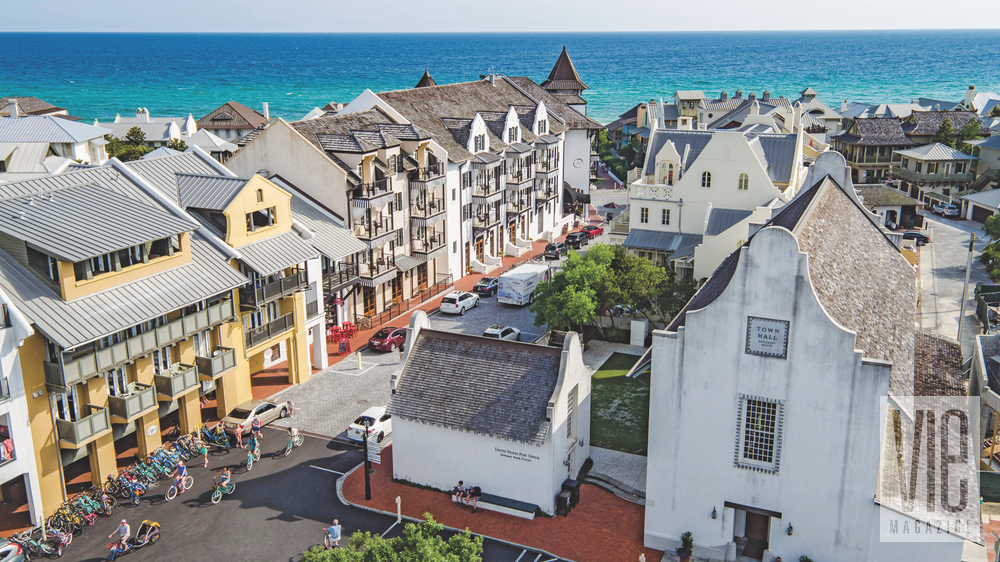 The unique rooftops of Rosemary Beach include the Town Hall and the chic Pearl Hotel's Havana Beach Rooftop Lounge overlooking the Gulf of Mexico. Florida