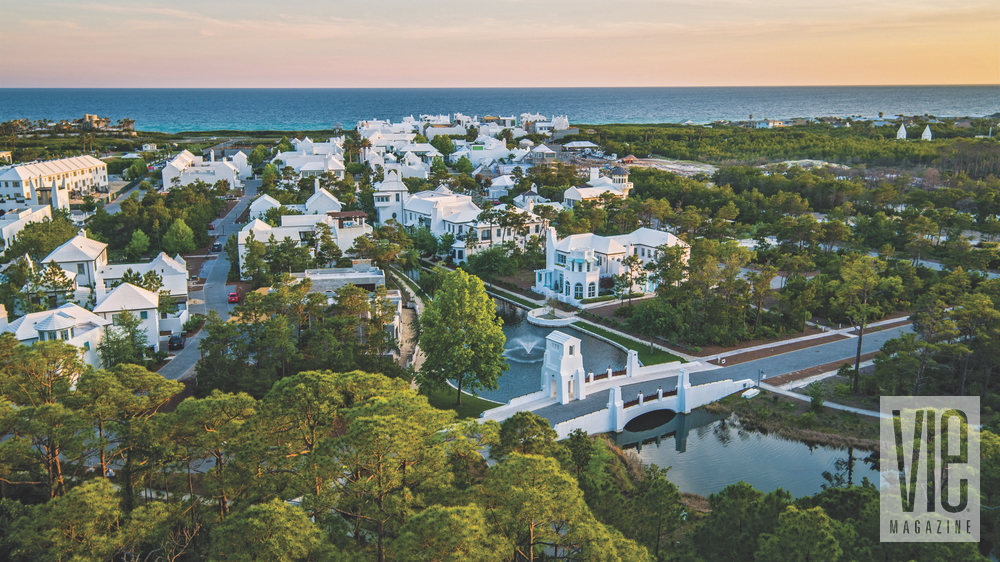 Designed by Khoury & Vogt Architects, Alys Beach's white walls, courtyards, and pavilions combine Bermudan influences with planned New Urbanism to create a community like no other. Florida