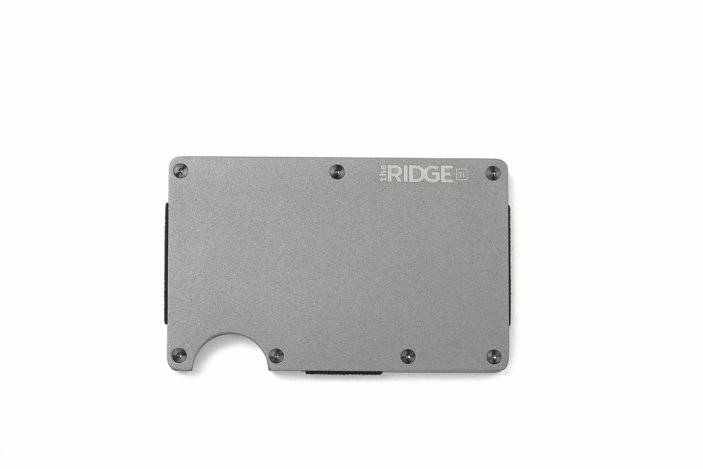C'est La VIE Curated Collection A Minimalist Dream Ridge Titanium Gunmetal Wallet