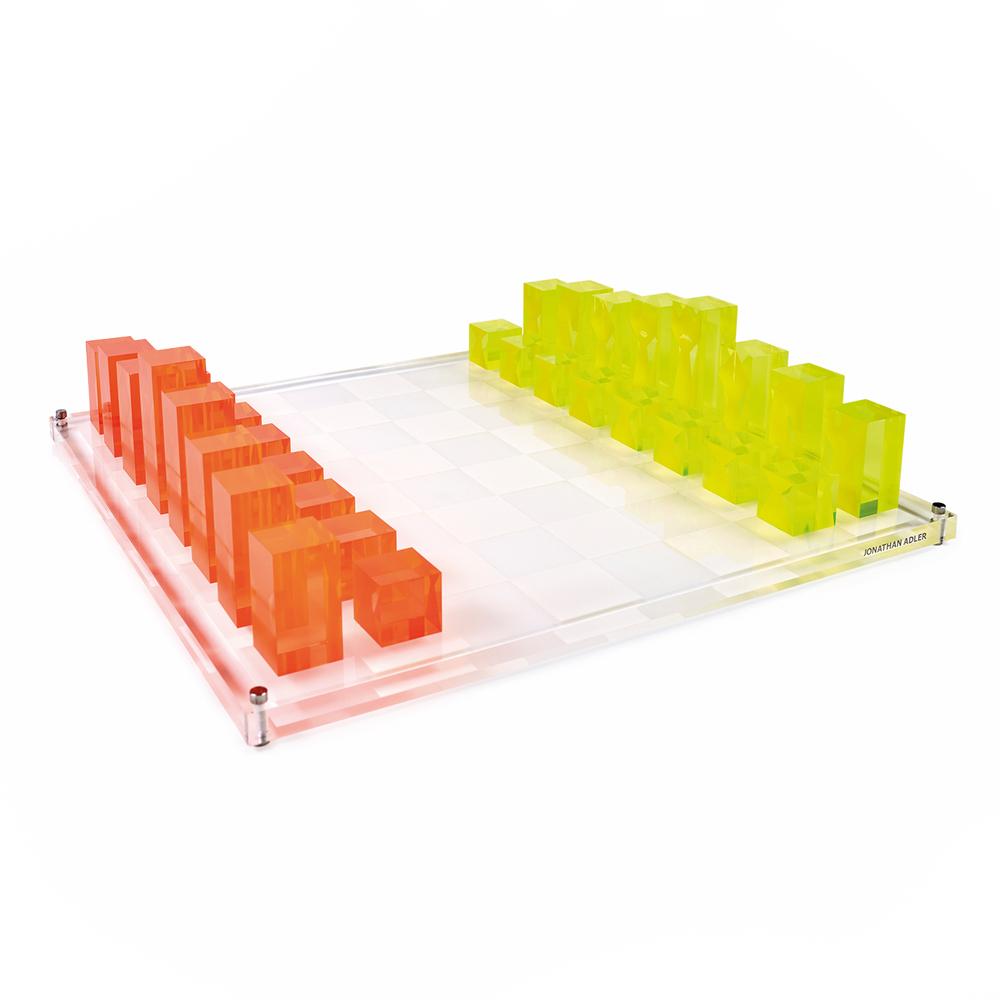 C'est La VIE Curated Collection A Minimalist Dream Neon Chess Set Jonathan Adler