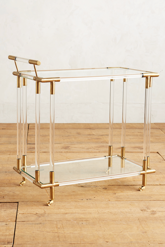 C'est La VIE Curated Collection A Minimalist Dream Oscarine Lucite Bar Cart Anthropologie