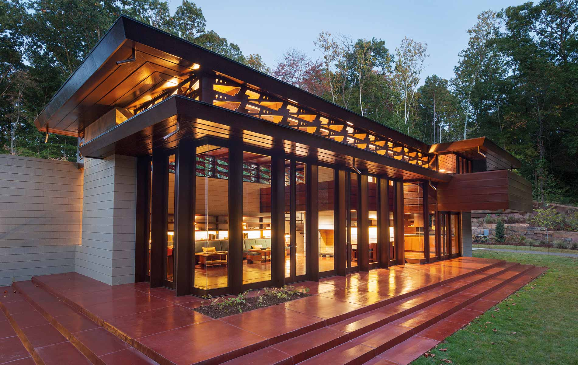 The Bachman Wilson House at Crystal Bridges Museum of Art Frank Lloyd Wright