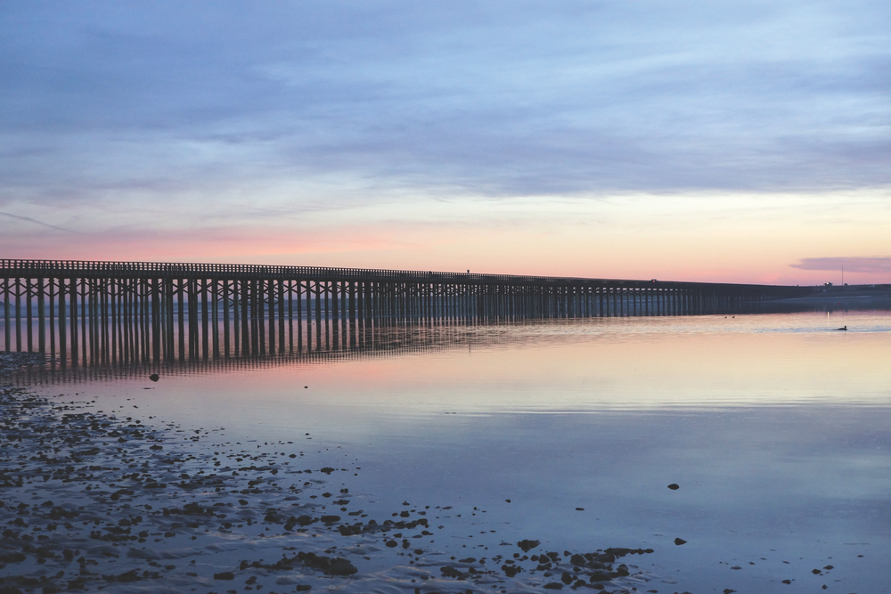 Powder Point Bridge at Duxbury Beach Duxbury, Massachusetts Hometown Architecture Photo by Janice Hanrahan