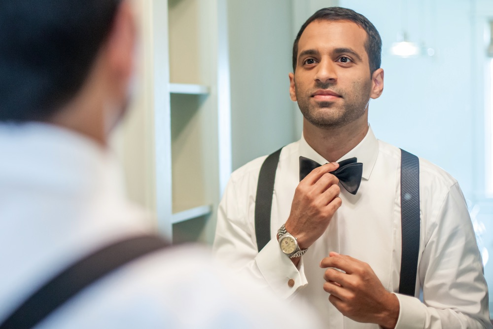 Groom getting ready for his Indian Inspired Wedding