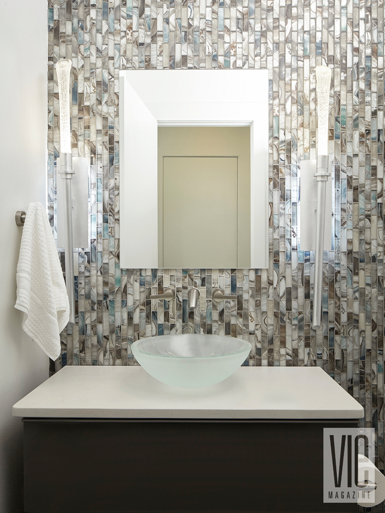 Modern MInimalist Ragsdale Home Bathroom sink tile