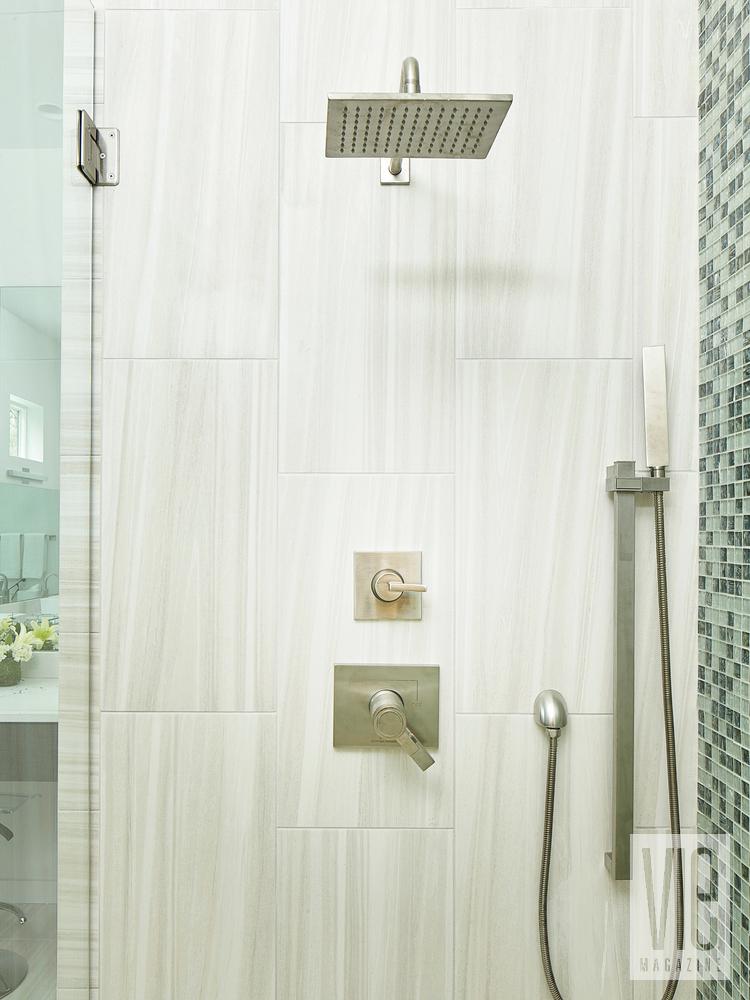 Modern MInimalist Ragsdale Home shower sauna