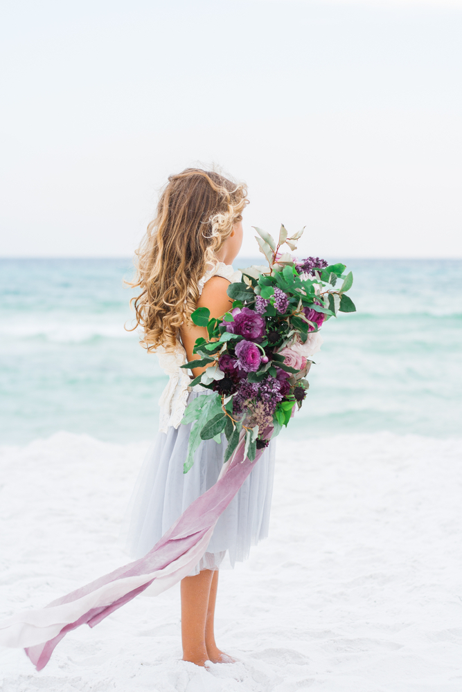 Pure7 Studios Styled Wedding Shoot flowers beach