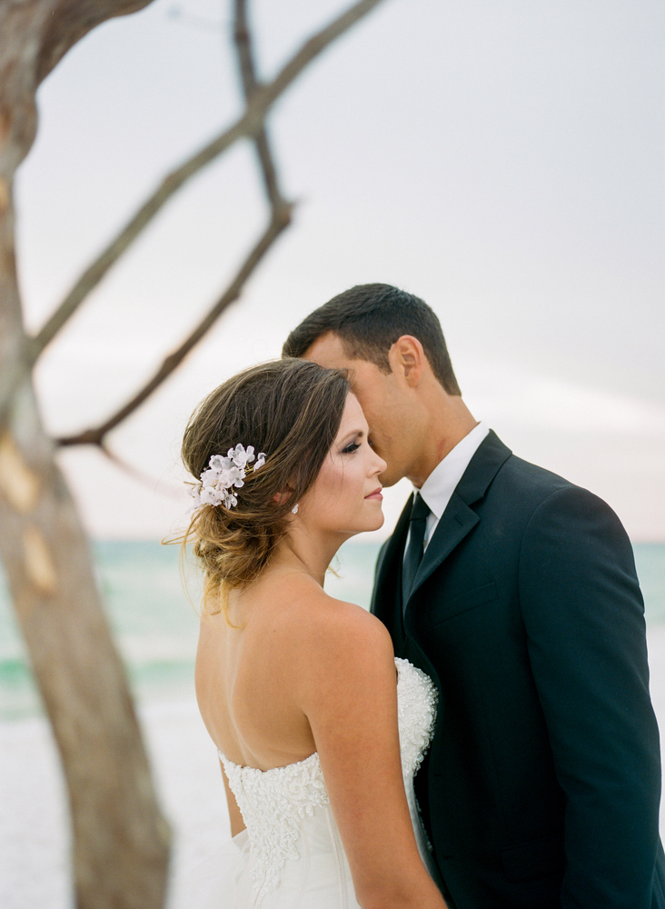 Pure7 Studios Styled Wedding Shoot couple beach
