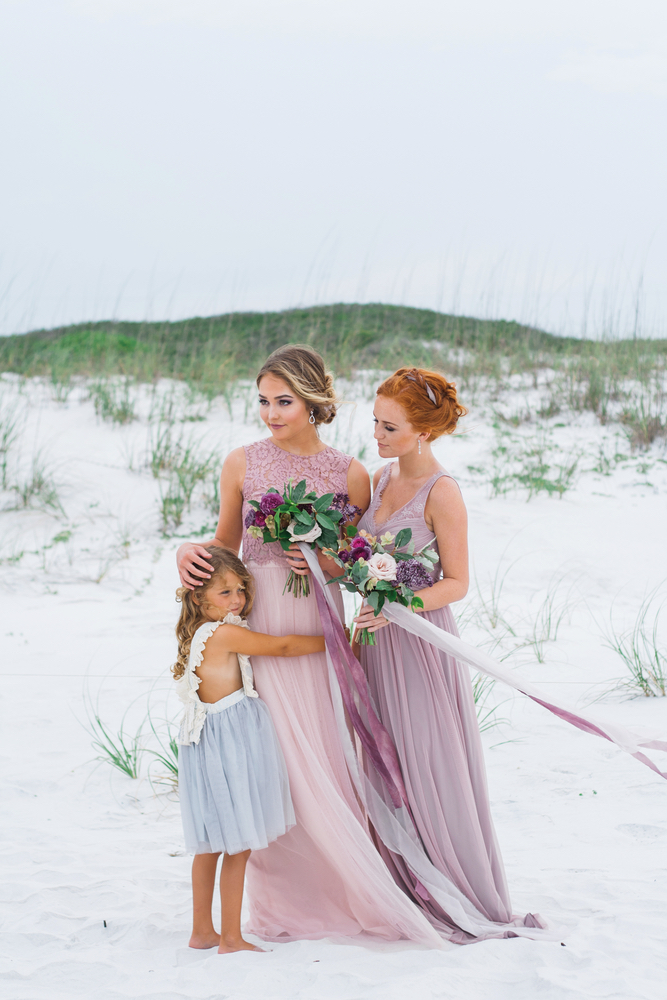 Pure7 Studios Styled Wedding Shoot bridesmaids beach