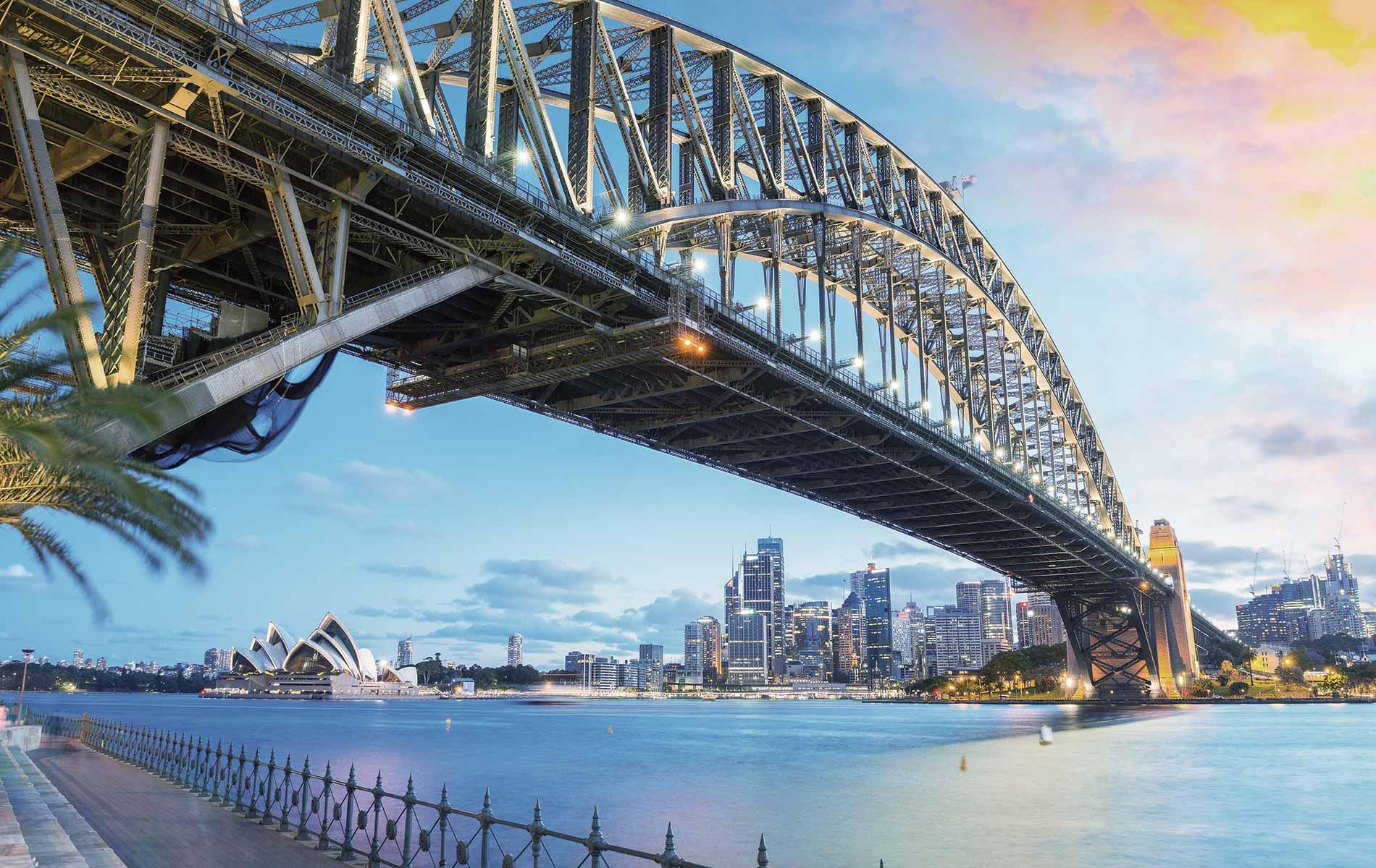 Sydney, Australia with the iconic Sydney Opera House and the Sydney Harbour Bridge Skylines of the World