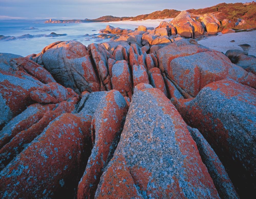 Granite shoreline bay of fires tasmania travel