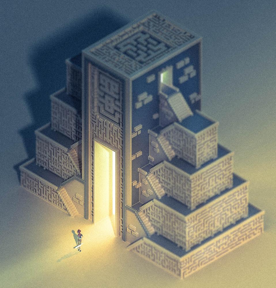 Block by Block Sir Carma Video Game Art design temple