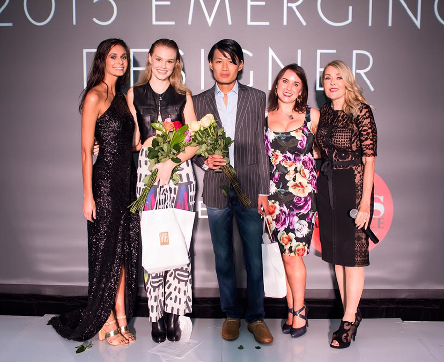 2015 South Walton Fashion Week Sheila Goode Models of the Year Miranda Abney and Xingbang Tang