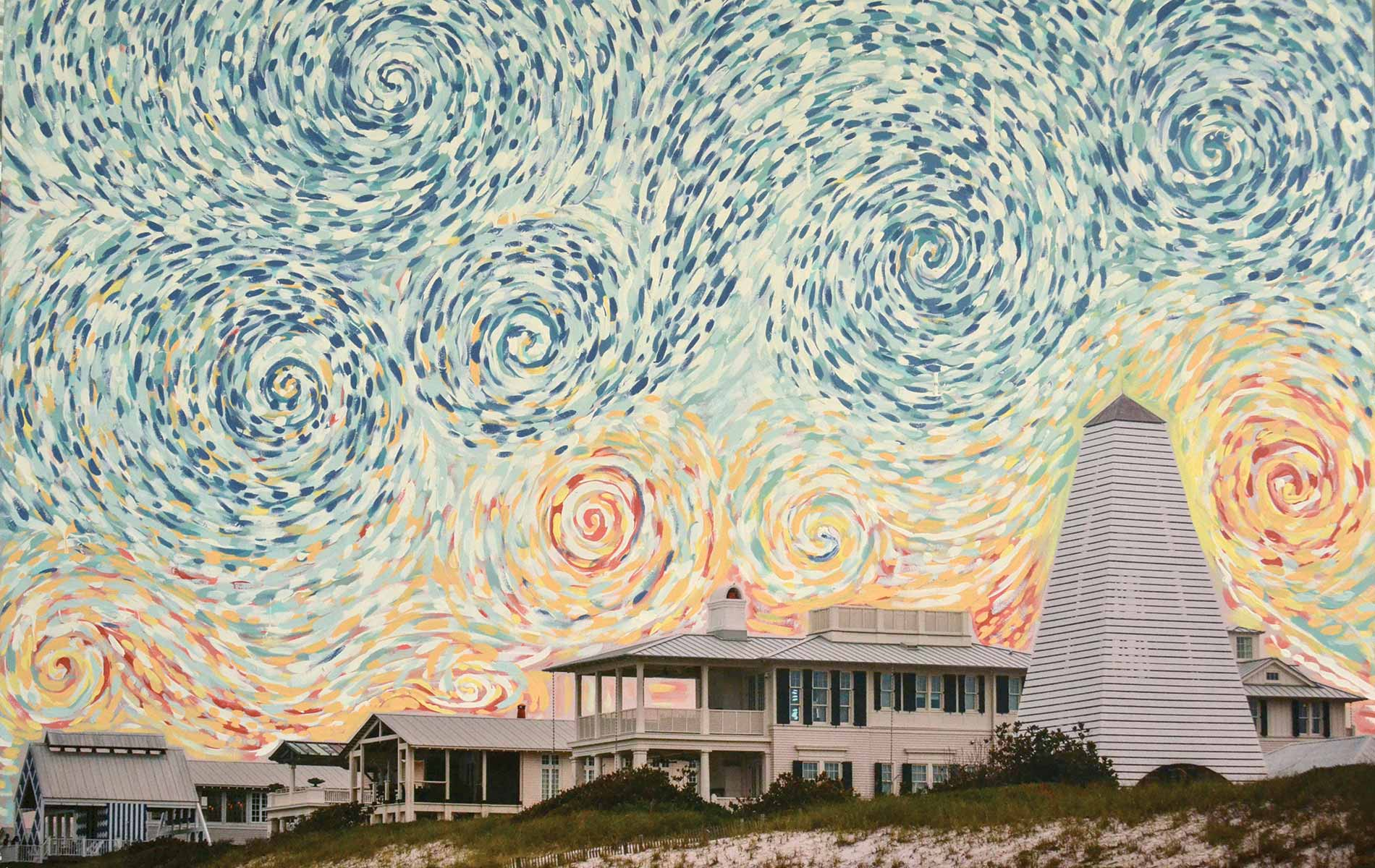 Andy Saczynski and Ryan Manthey collaborative painting Seaside Swirls artists photography paint