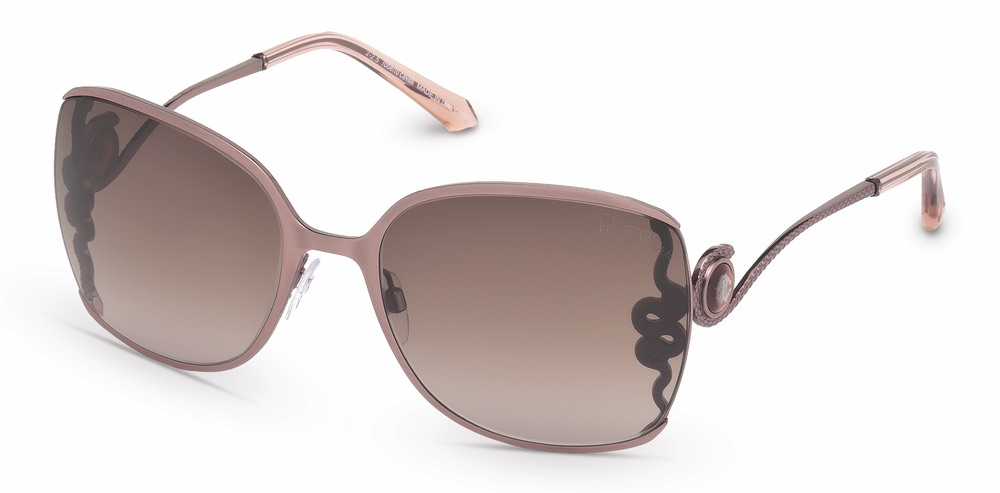 C'est La VIE Curated Collection Enchanted Garden Party Roberto Cavalli Oversized Square Sunglasses with Iconic Snake Motif