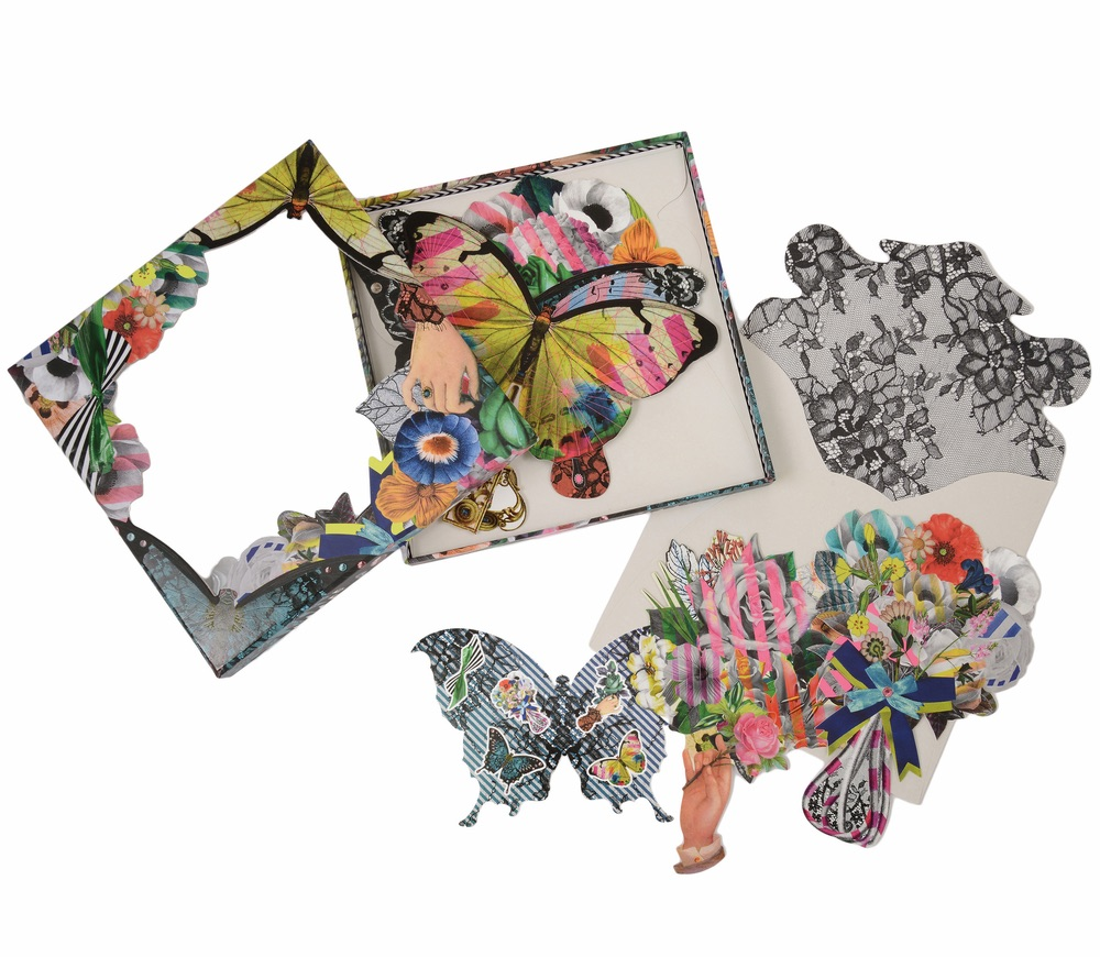 C'est La VIE Curated Collection Enchanted Garden Party Christian Lacroix Frivolités Notecards
