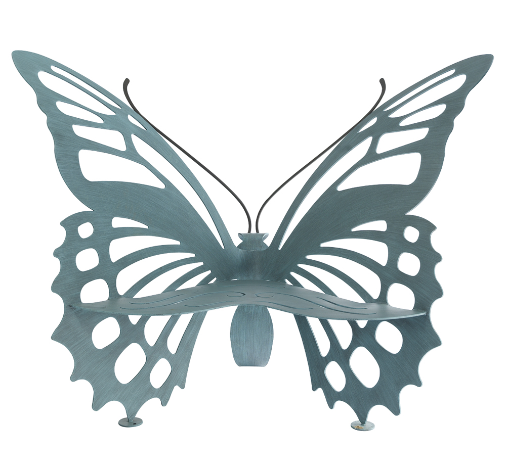 C'est La VIE Curated Collection Enchanted Garden Party Small Butterfly Bench Neiman Marcus