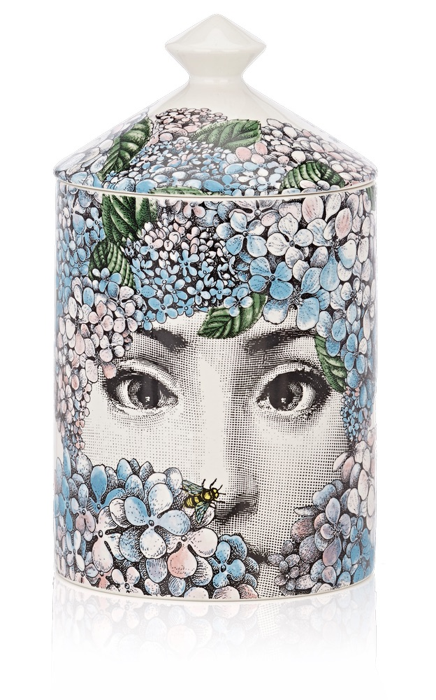 C'est La VIE Curated Collection Enchanted Garden Party Fornasetti Ortensia Lidded Candle