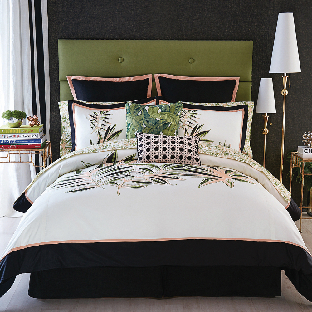 Christian Siriano and Brad Walsh Connecticut Home Bed Bath and Beyond bed set floral print design interior