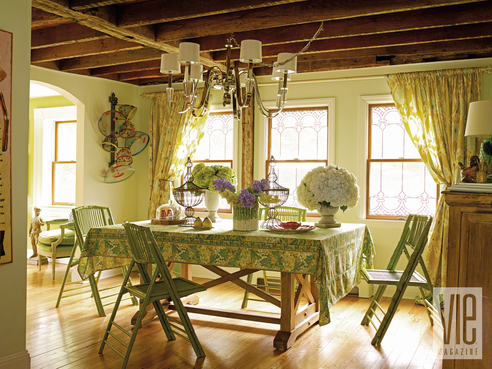 Christian Siriano and Brad Walsh dining room Connecticut Home Bed Bath and Beyond floral print design interior