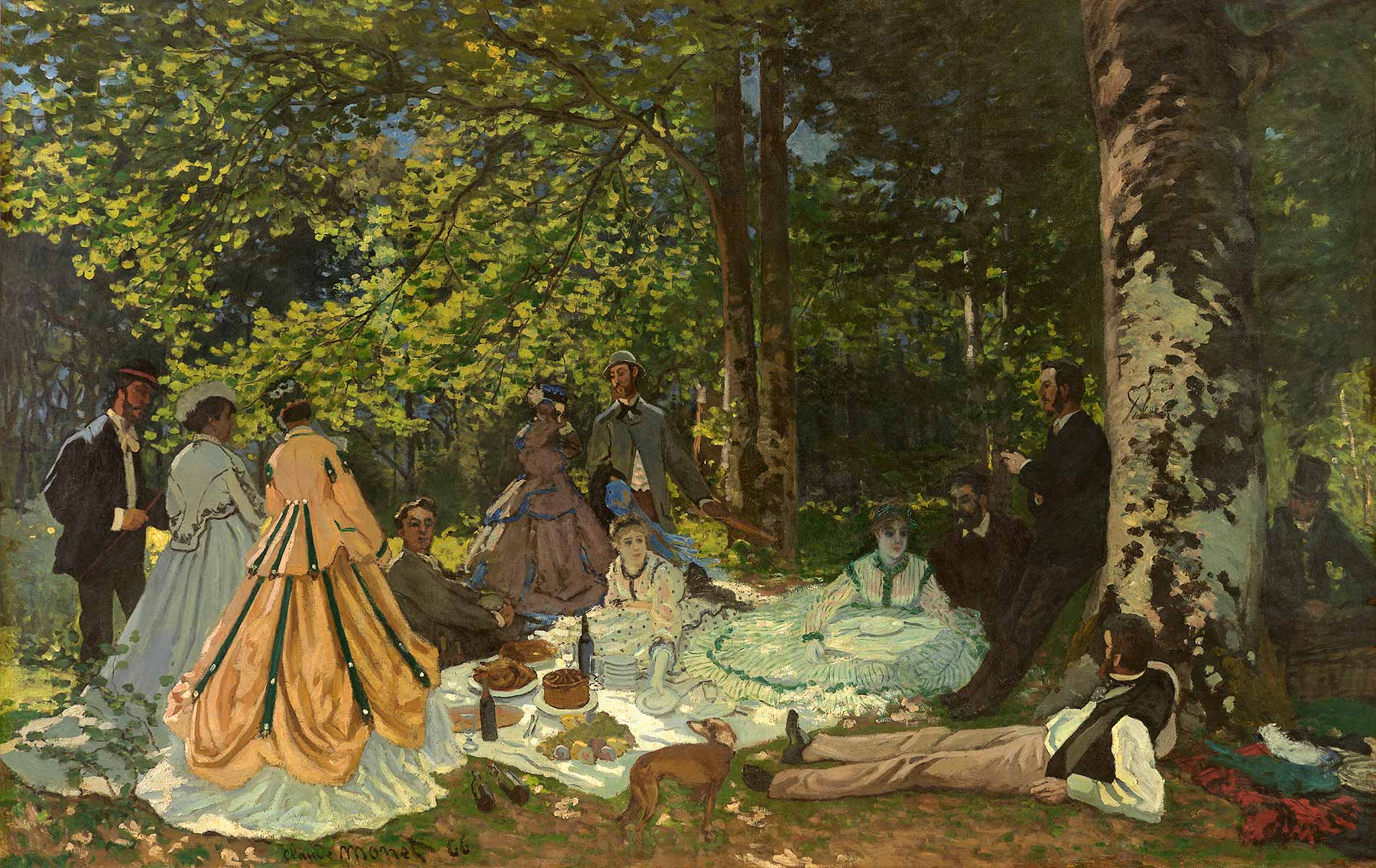 Claude Monet, Le Déjeuner sur l'herbe, 1866. Courtesy Pushkin Museum, Moscow Louis Vuitton Icons of Modern Art: The Shchukin Collection
