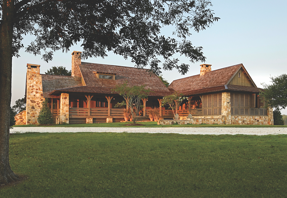 Jeff Dungan Architecture exterior shot of farm house architect design
