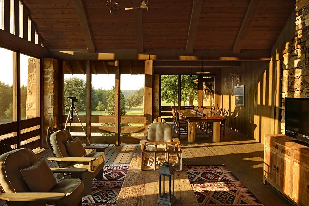 Jeff Dungan Architecture interior shot of farm house sun room architect design