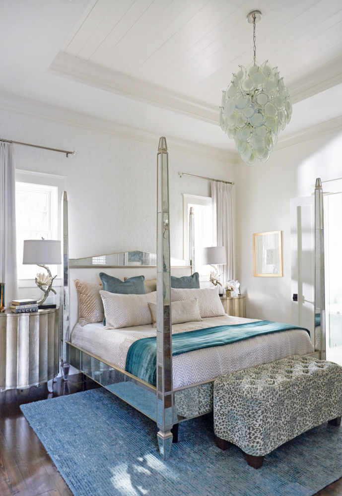 Susan Lovelace Destin home bedroom interior design blue hues
