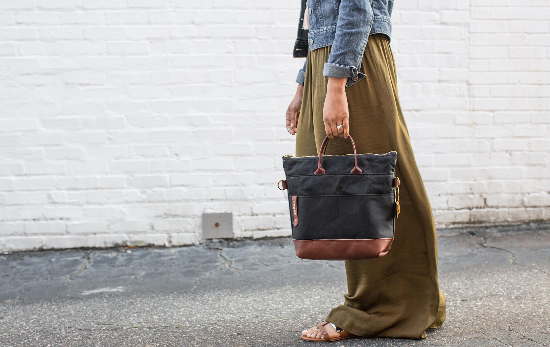 R Riverter Satchel Handbag