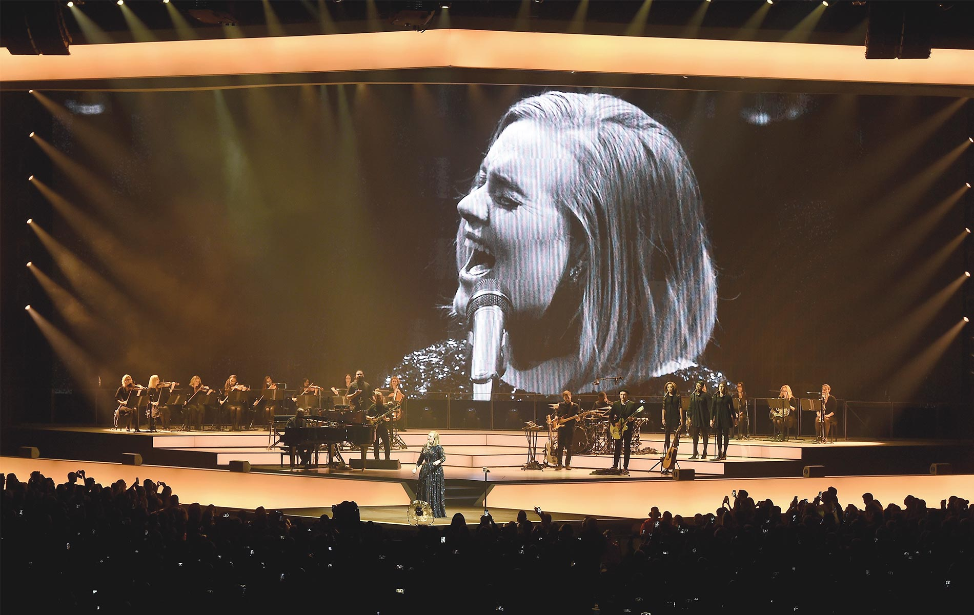 Adele performing at the Staples Center in Los Angeles Photo by Kevin Winter/Getty Images
