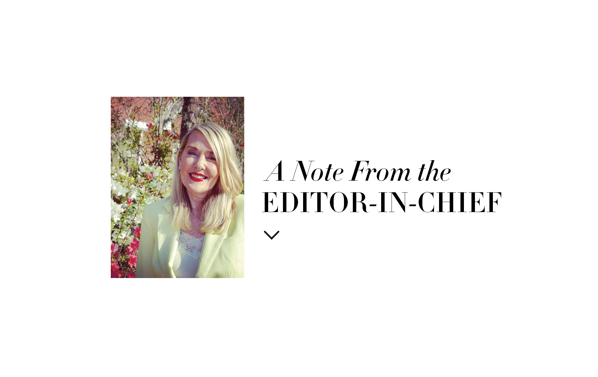 Editor in Chief Note Lisa Burwell Loving Life VIE Magazine Home and Decor