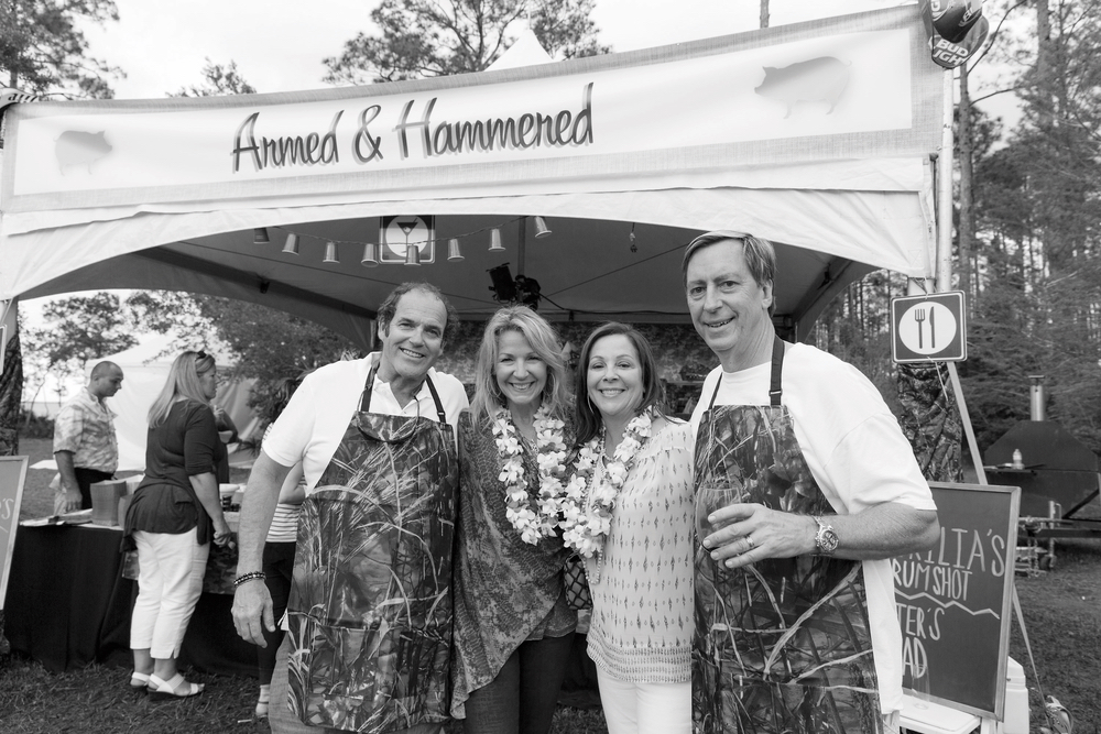 "Steve and Lynn Dugas with Valerie and Mike ""Chi Chi Miguel"" Thompson at the 2016 Throwdown Benefit Auction and Barbecue. Photo by Steven Freeman."