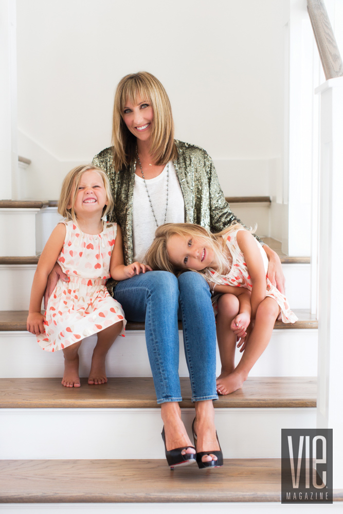 Amy Giles with daughters