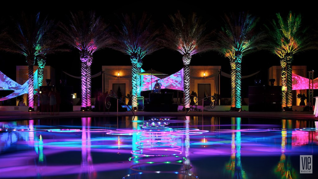 Digital Graffiti Artwork Display at Caliza Pool in Alys Beach FL