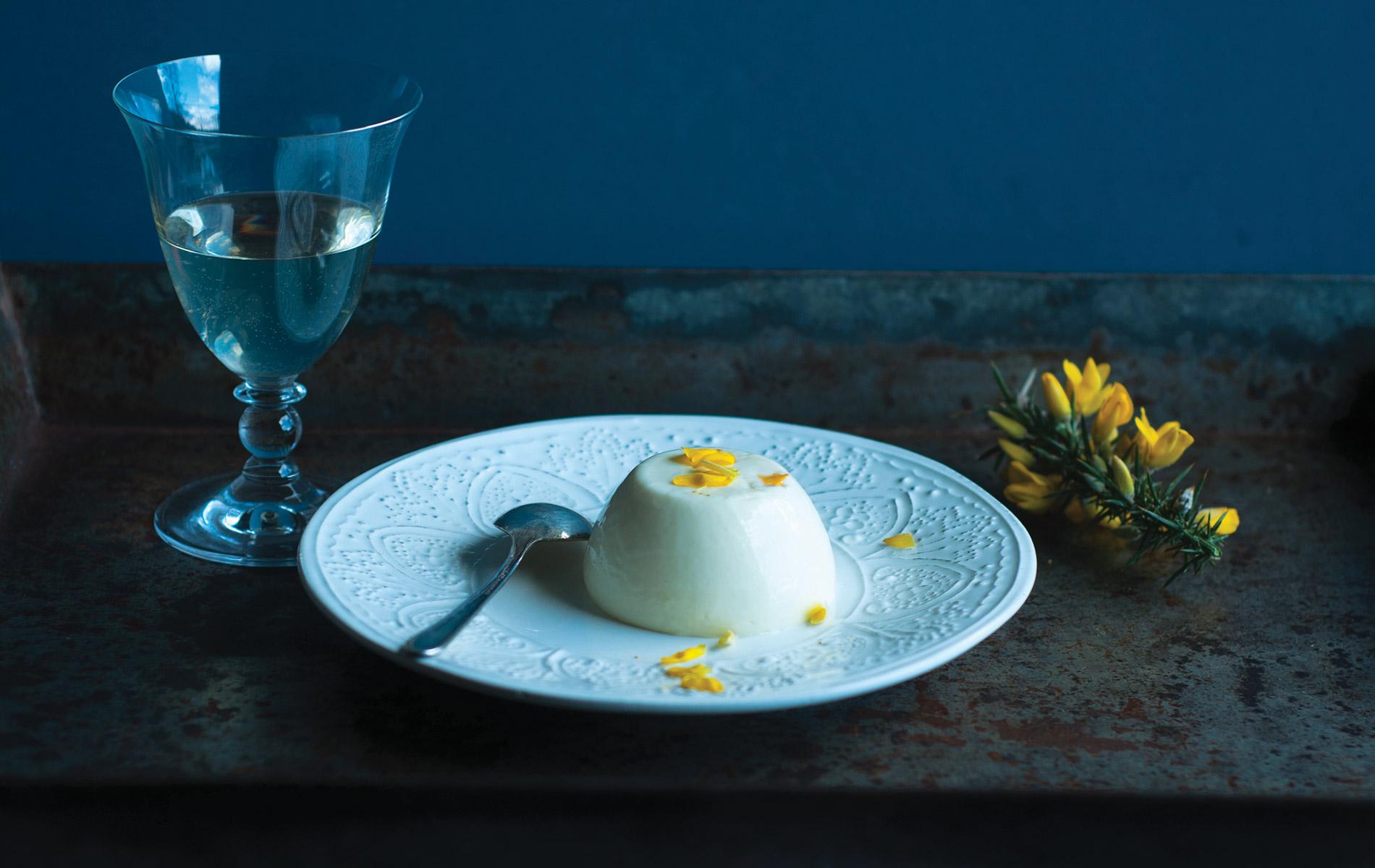 Panna Cotta dish from blog Breaking Eggs Connemara Life Voyager Food