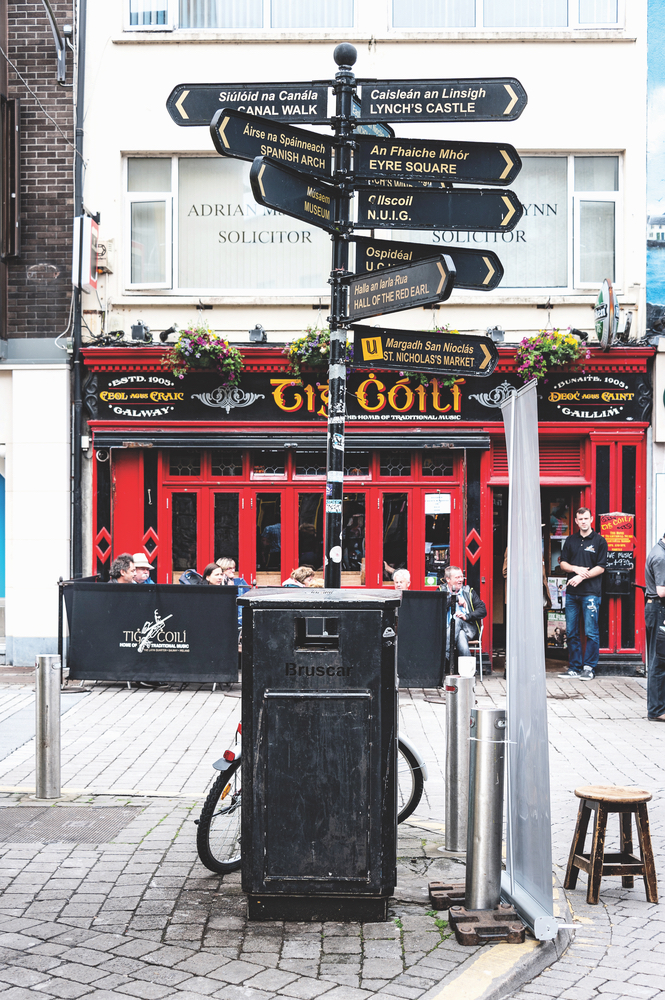 Tig Cóilí on Mainguard Street is one of many laid-back pubs in Galway perfect for enjoying a pint on your way to or from Connemara