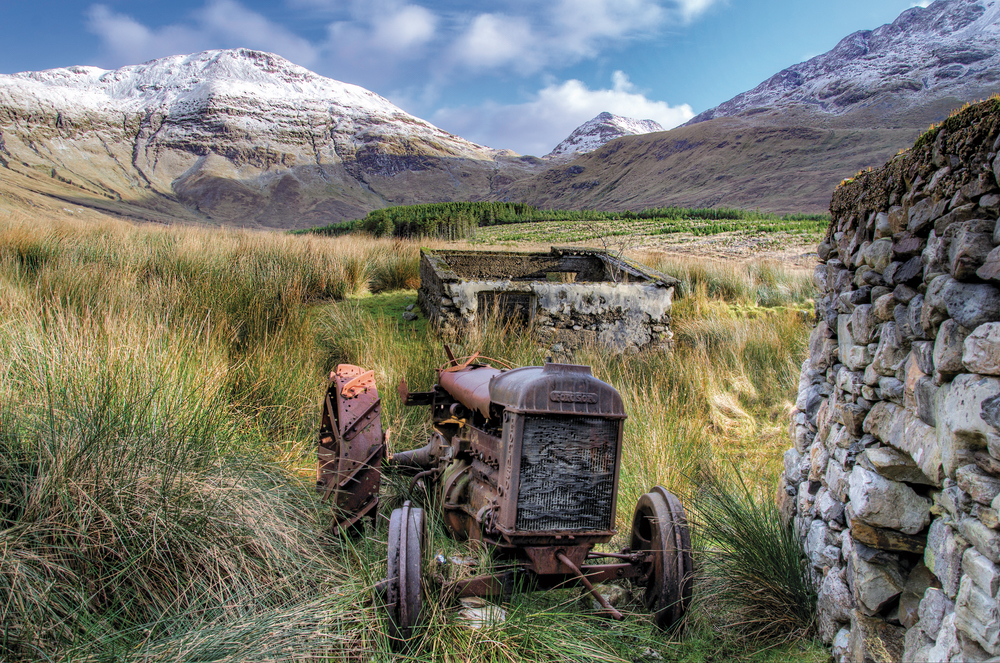 """After a nice hike through the bog I spotted this cottage and went for a closer look. I spotted the old Fordson tractor and knew this would make an interesting focal point to amazing mountains in the background."" Taken at the foothills of Benbaun in Connemara. Photo by Trevor Dubber"