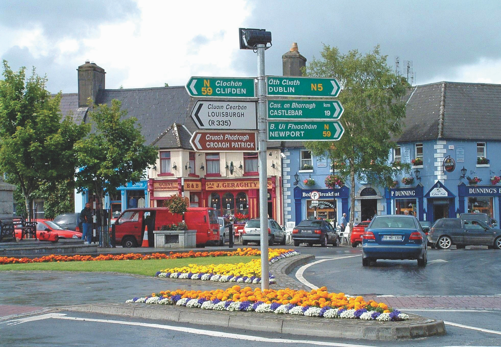 Bustling City Centre of Westport with shops pubs and culture Connemara Life 2016